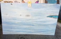 Fourniture dalles brillantes 2 cm en marbre naturel AZUL MAKAUBA Z0191. Détail image photos