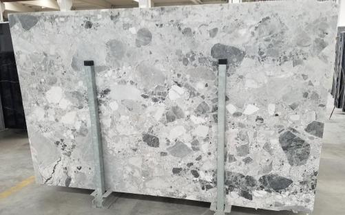 Fourniture dalles brillantes 2 cm en marbre naturel Babylon Grey 1553M. Détail image photos