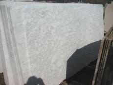 Fourniture dalles polies 2 cm en marbre naturel BIANCO BROUILLE' EM_0492B. Détail image photos