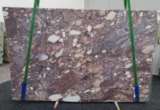 Fourniture dalles brillantes 2 cm en brèche naturelle BRECCIA VIOLA 1289. Détail image photos