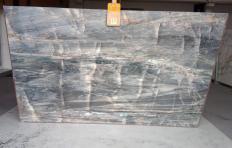 Fourniture dalles brillantes 2 cm en quartzite naturel BRITA BLUE Z0359. Détail image photos
