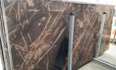 Fourniture dalles brillantes 2 cm en calcaire naturel BRONZO VENATO 1529M. Détail image photos