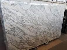 Fourniture dalles brillantes 2 cm en marbre naturel CALACATTA ARNI Z0182. Détail image photos