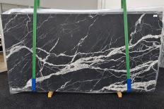 Fourniture dalles polies 2 cm en marbre naturel CALACATTA BLACK 1459. Détail image photos