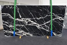 Fourniture dalles brillantes 2 cm en marbre naturel CALACATTA BLACK 1459. Détail image photos