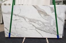 Fourniture dalles brillantes 2 cm en marbre naturel CALACATTA BORGHINI 1209. Détail image photos
