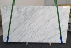 Fourniture dalles brillantes 3 cm en marbre naturel CALACATTA CARRARA 1295. Détail image photos