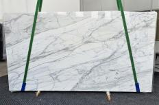 Fourniture dalles brillantes 2 cm en marbre naturel CALACATTA CARRARA 1358. Détail image photos