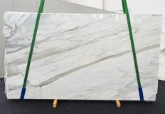 Fourniture dalles brillantes 2 cm en marbre naturel CALACATTA CARRARA 1360. Détail image photos