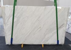Fourniture dalles brillantes 2 cm en marbre naturel CALACATTA CREMO 1263. Détail image photos