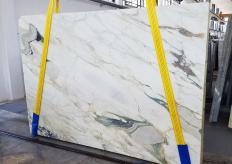 Fourniture dalles sciées 2 cm en marbre naturel CALACATTA FIORITO U0433. Détail image photos