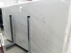 Fourniture dalles brillantes 2 cm en marbre naturel CALACATTA LINCOLN GOLD VEIN 1670M. Détail image photos