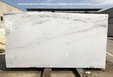 Fourniture dalles brillantes 2 cm en marbre naturel CALACATTA LINCOLN 1408M. Détail image photos