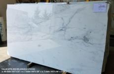 Fourniture dalles brillantes 2 cm en marbre naturel CALACATTA MICHELANGELO AA T0165. Détail image photos