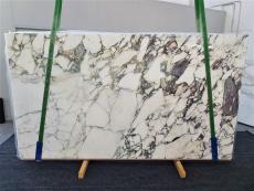 Fourniture dalles brillantes 2 cm en marbre naturel CALACATTA MONET 1312. Détail image photos