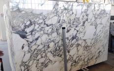 Fourniture dalles brillantes 2 cm en marbre naturel CALACATTA MONET Z0200. Détail image photos