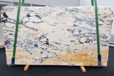 Fourniture dalles brillantes 2 cm en marbre naturel CALACATTA MONET 1371. Détail image photos
