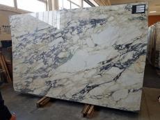 Fourniture dalles brillantes 2 cm en marbre naturel CALACATTA MONET Z0158. Détail image photos