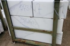 Fourniture bandes brutes 1 cm en marbre naturel CALACATTA ORO EXTRA 12X24. Détail image photos