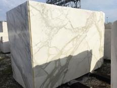 Fourniture blocs bruts 177 cm en marbre naturel CALACATTA ORO EXTRA 2628. Détail image photos