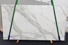 Fourniture dalles brillantes 2 cm en marbre naturel CALACATTA ORO EXTRA 1366. Détail image photos