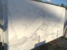 Fourniture dalles brillantes 2 cm en marbre naturel CALACATTA ORO EXTRA C-0412. Détail image photos