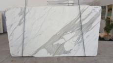 Fourniture dalles brillantes 3 cm en marbre naturel CALACATTA ORO EXTRA GL 791. Détail image photos