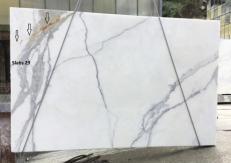 Fourniture dalles brillantes 2 cm en marbre naturel CALACATTA ORO EXTRA GL D190223. Détail image photos