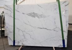 Fourniture dalles brillantes 2 cm en marbre naturel CALACATTA ORO EXTRA GL 1043. Détail image photos