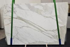 Fourniture dalles brillantes 2 cm en marbre naturel CALACATTA ORO EXTRA GL 1090. Détail image photos