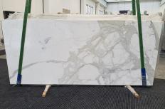 Fourniture dalles brillantes 2 cm en marbre naturel CALACATTA ORO 1244. Détail image photos