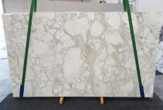 Fourniture dalles brillantes 3 cm en marbre naturel CALACATTA ORO 1274. Détail image photos