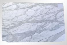 Fourniture dalles polies 2 cm en marbre naturel CALACATTA ORO M2020088. Détail image photos