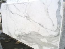 Fourniture dalles brillantes 2 cm en marbre naturel CALACATTA ORO EDM25108. Détail image photos