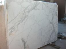 Fourniture dalles brillantes 2 cm en marbre naturel CALACATTA ORO EM_0477. Détail image photos