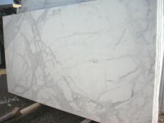 Fourniture dalles brillantes 2 cm en marbre naturel CALACATTA ORO EM_0472. Détail image photos