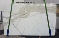 Fourniture dalles brillantes 2 cm en marbre naturel CALACATTA ORO GL 972. Détail image photos