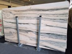 Fourniture dalles brillantes 2 cm en marbre naturel CALACATTA SAINT TROPEZ A0128. Détail image photos