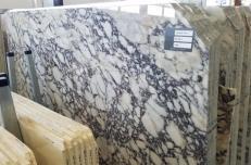 Fourniture dalles brillantes 2 cm en marbre naturel CALACATTA VAGLI ROSATO AA T0400. Détail image photos