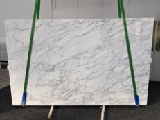 Fourniture dalles brillantes 3 cm en marbre naturel CALACATTA VAGLI VENA FINA GL 1128. Détail image photos