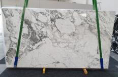 Fourniture dalles brillantes 2 cm en marbre naturel CALACATTA VAGLI 1300. Détail image photos