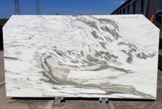 Fourniture dalles brillantes 2 cm en marbre naturel CALACATTA VAGLI U0434. Détail image photos