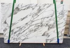 Fourniture dalles brillantes 2 cm en marbre naturel CALACATTA VAGLI 1396. Détail image photos