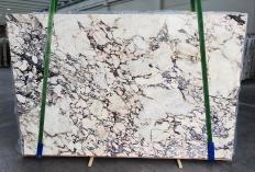 Fourniture dalles brillantes 3 cm en marbre naturel CALACATTA VIOLA 1291. Détail image photos