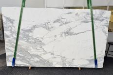 Fourniture dalles brillantes 2 cm en marbre naturel CALACATTA 1301. Détail image photos