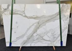 Fourniture dalles brillantes 2 cm en marbre naturel CALACATTA 1310. Détail image photos