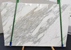 Fourniture dalles brillantes 3 cm en marbre naturel CALACATTA 1344. Détail image photos