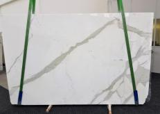 Fourniture dalles brillantes 3 cm en marbre naturel CALACATTA GL 1108. Détail image photos