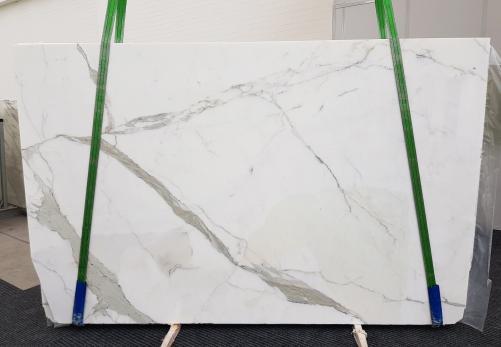 Fourniture dalles polies 3 cm en marbre naturel CALACATTA GL 1108. Détail image photos