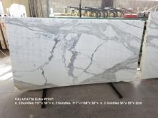 Fourniture dalles polies 2 cm en marbre naturel CALACATTA 2257. Détail image photos